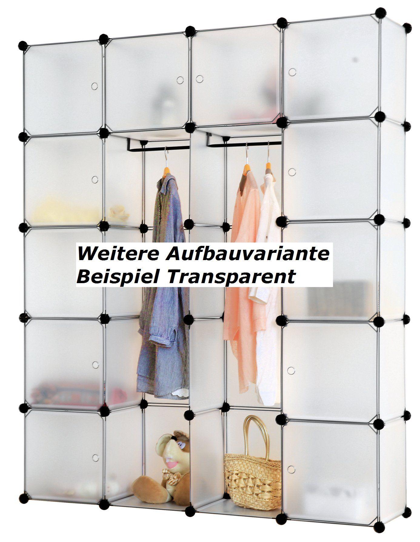Fresh Regalsystem Steckregal Schrank Regal Kleiderschrank Garderobe x x cm Schwarz Dekor