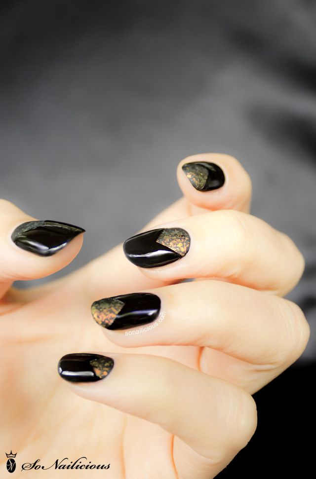 Shine of the Times nail art - 28 days of SoNailicious Nails – Day 17 ...