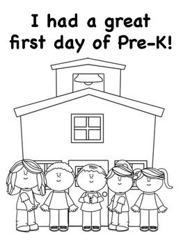 First Day Of Prek Coloring Pages Preschool First Day Preschool