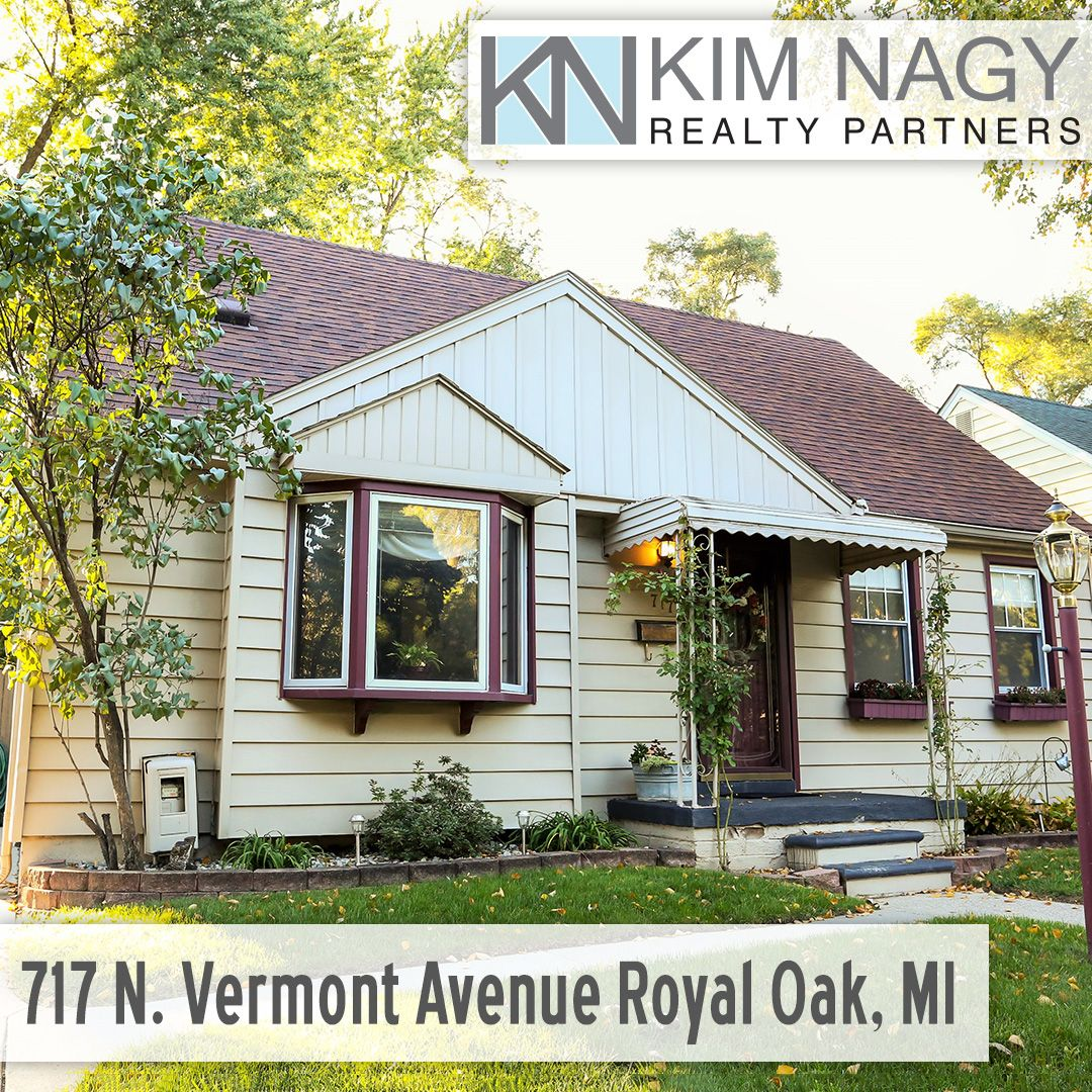Just Listed | 717 Vermont Avenue Royal Oak MI  Cute and classic Royal Oak bungalow! Large living room with beautiful bay window greets you upon entry, continue to the light-filled kitchen with good sized breakfast nook overlooking backyard. Two bedrooms on entry level, one currently used as oversized family room. Large master upstairs with built-ins, double closet and extra storage space. Finished basement features big rec room, office/possible 4th bedroom and second full bat