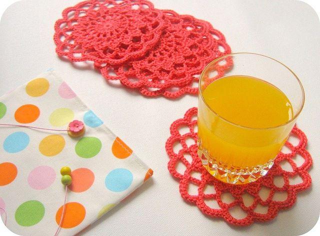 crochet coasters  gehaakte onderzetters