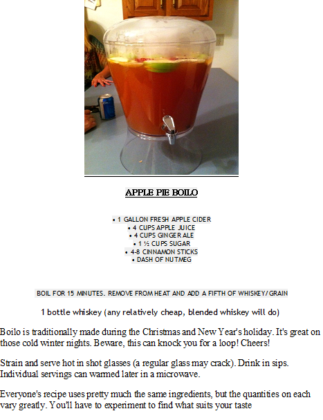 Apple Pie Boilo Watch Yourself This Has A Kick Boilo Recipe Christmas Drinks Food