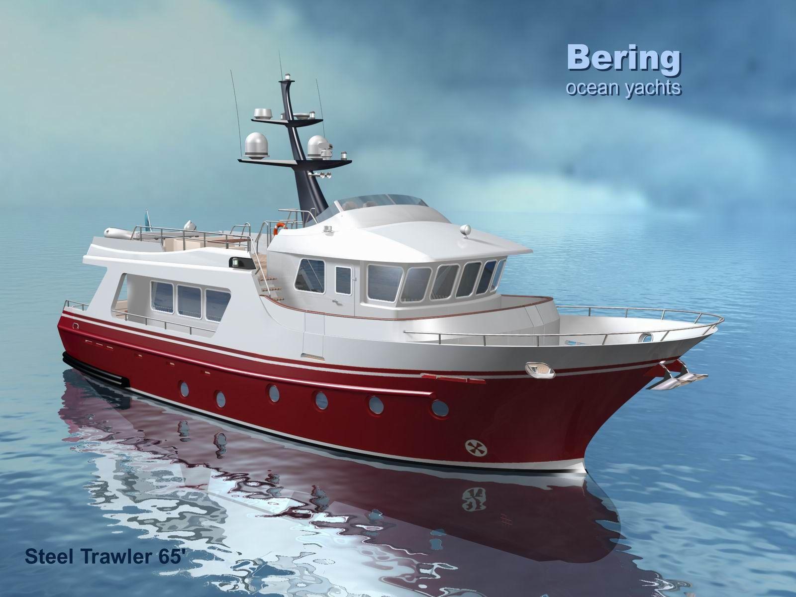 Bering 65 39 passagemakers pinterest boating for Garden design trawler boat