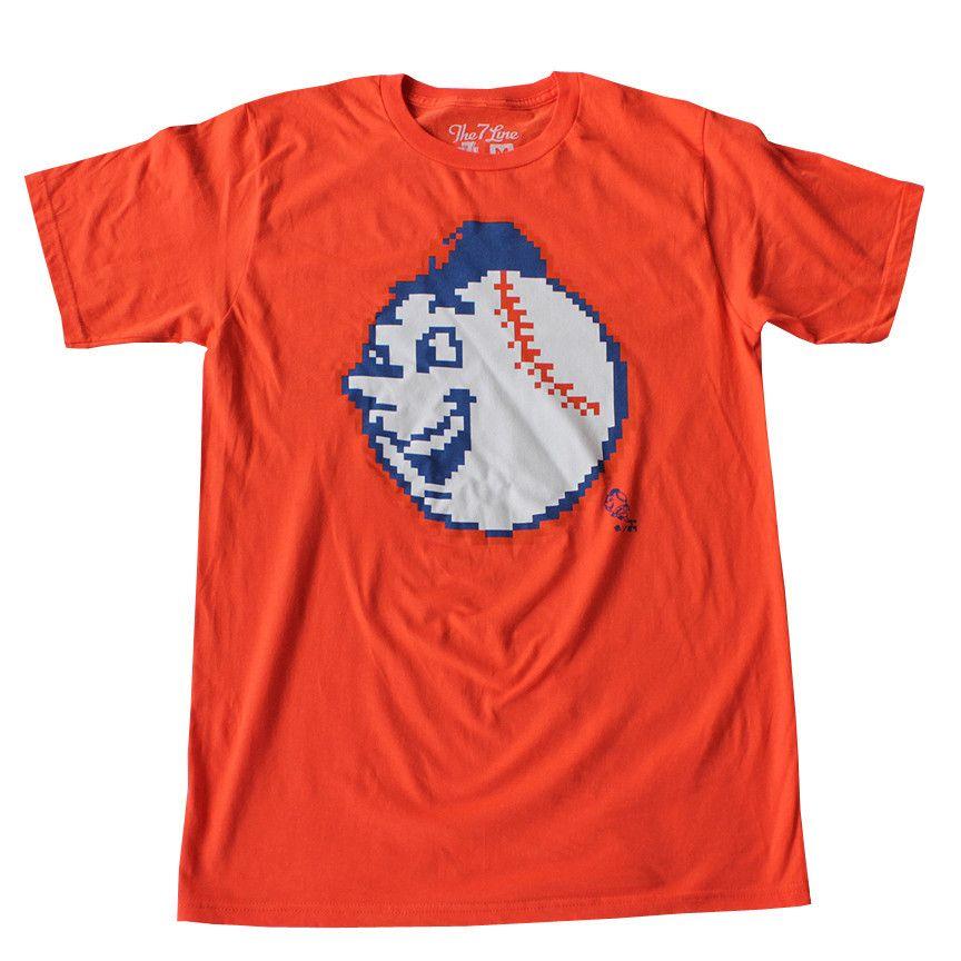 Emoji mr met orange mets t shirt mens tops how to wear