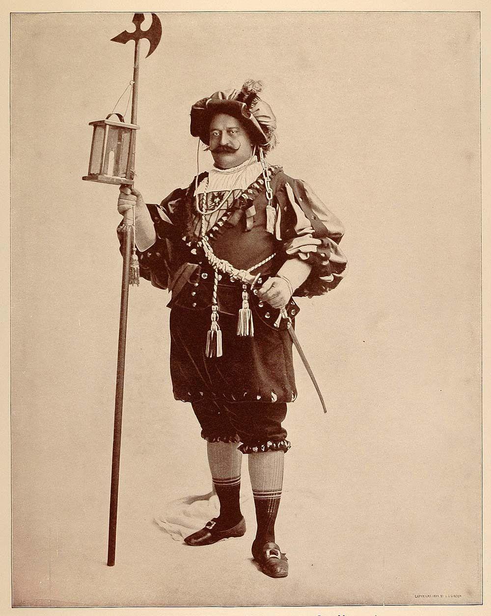 1893 Chicago World's Fair Portrait Night Watchman Old Vienna Midway Pl - Period Paper