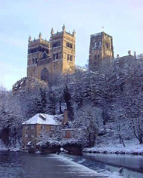 Durham Cathedral And The Fulling Mill In Durham England England