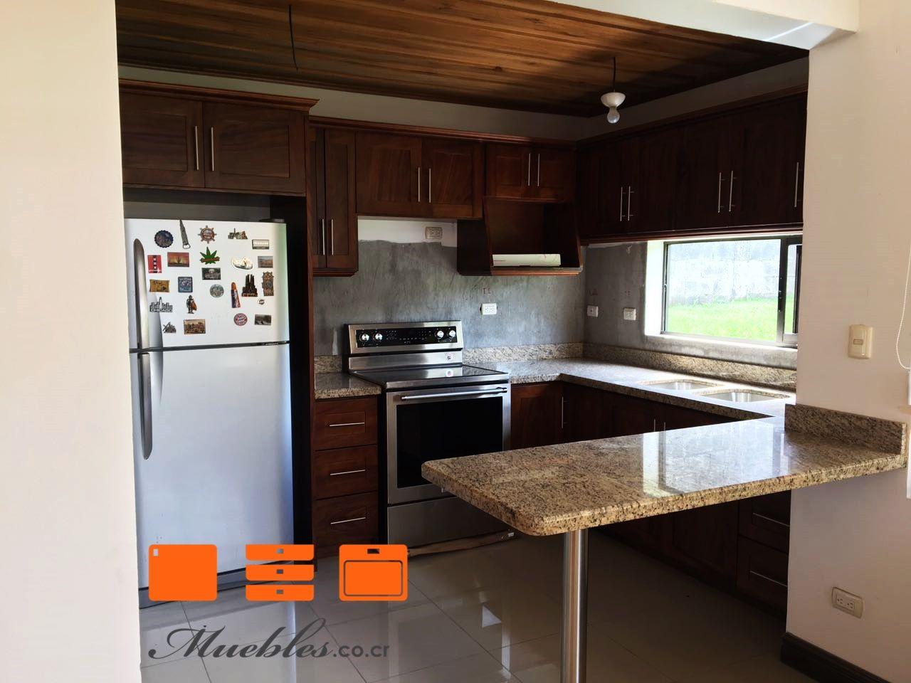 Mueble de cocina completo y personalizado, desayunador con granito ...