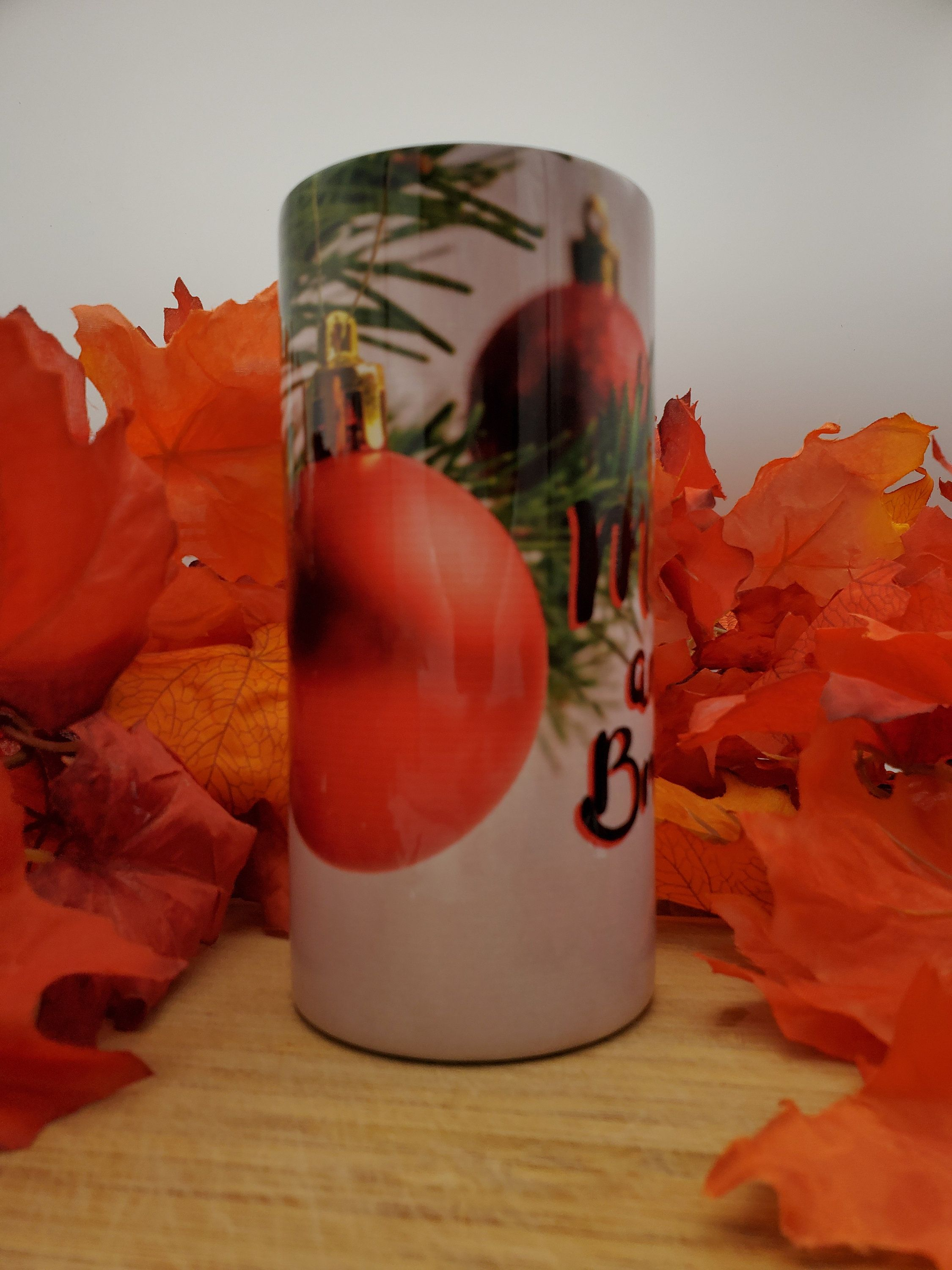 Merry And Bright Christmas 16 Ounce Insulated Skinny Tumbler Etsy In 2020 Merry And Bright Christmas Tumblers Merry
