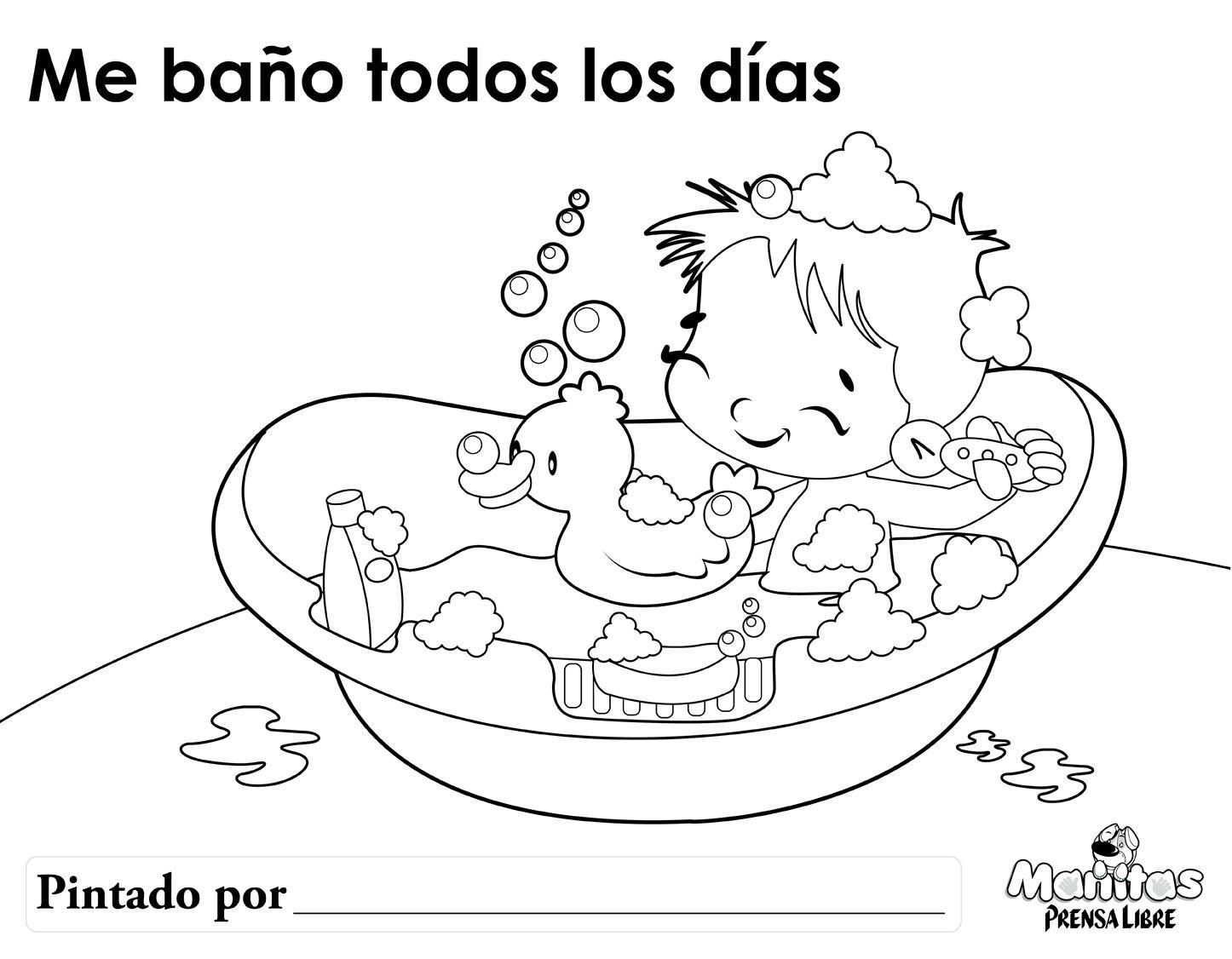 dibujo bebe bañera colorear - Buscar con Google | Bebes | Pinterest ...
