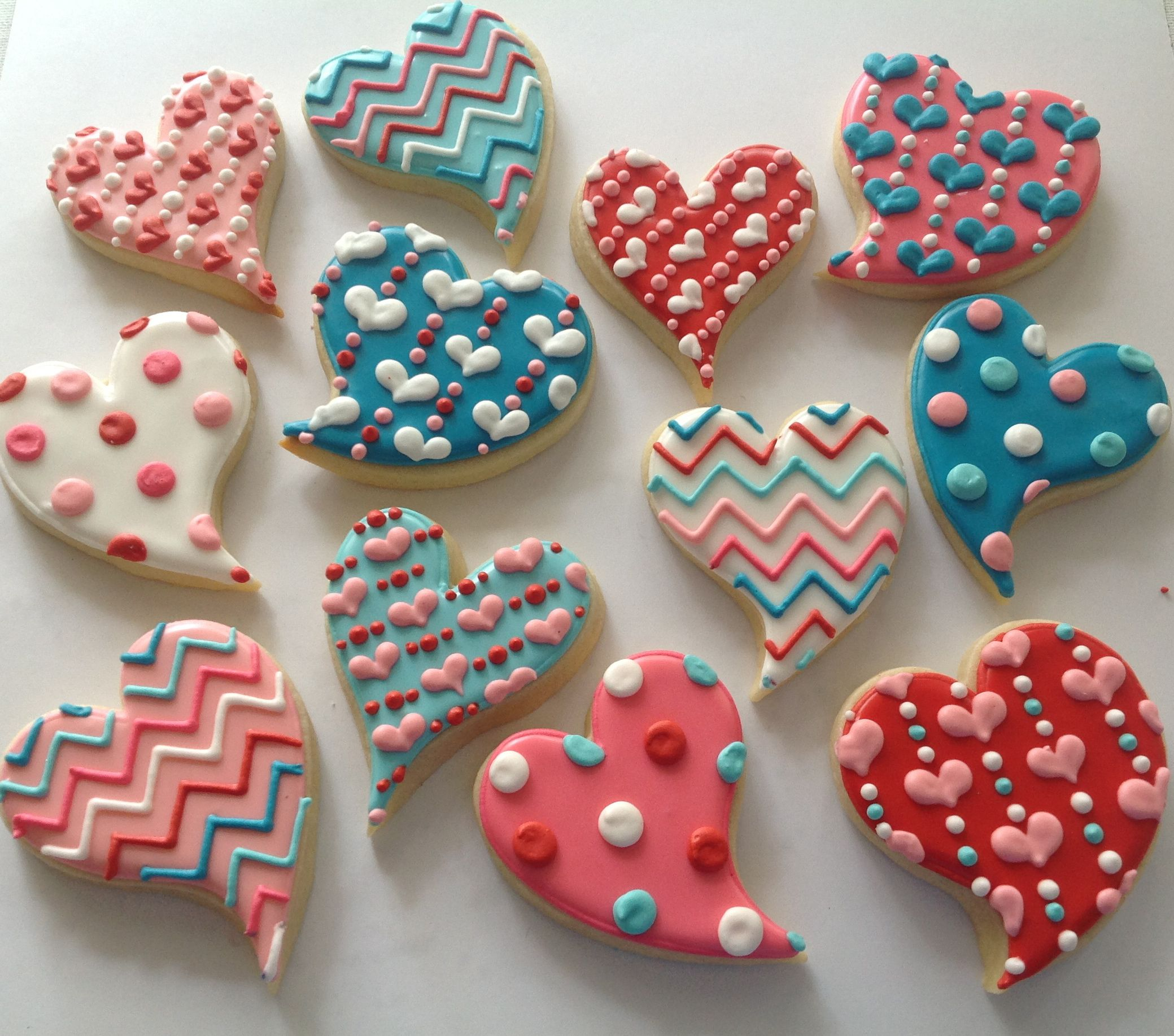 Como Decorar Galletas De Corazon Valentine Heart Set Cookies Pinterest Galleta Galletas