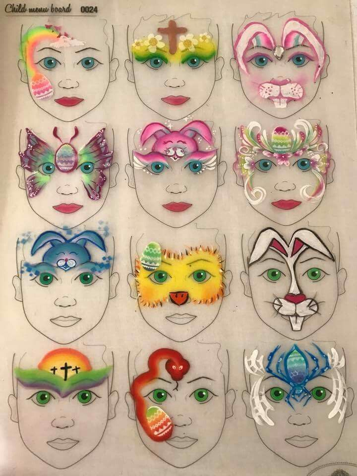 graphic relating to Printable Face Painting Chart identified as √ Printable Deal with Portray Chart Experience Chart Make-up Artist