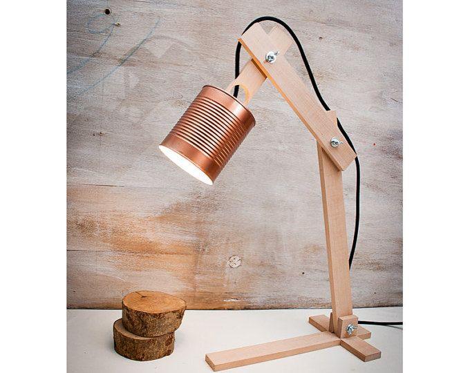 Bateau de lampe de bureau recycl cuivre bois lampe lampe lampe