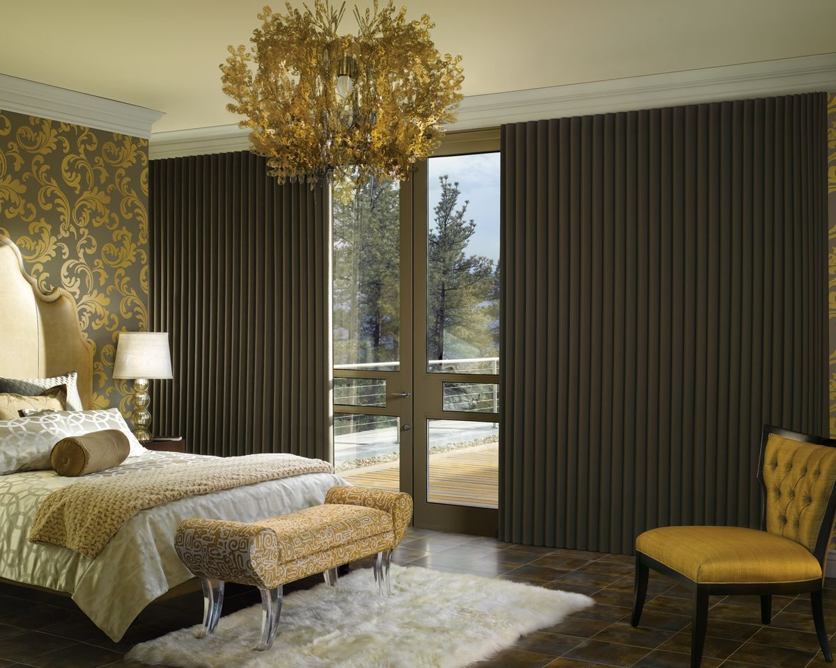 Modern Bedroom Curtains hunter douglas luminette modern draperies feature beautiful woven