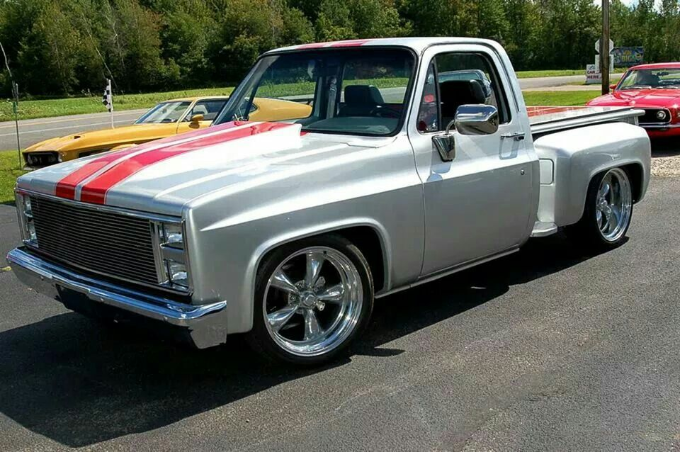 75 Chevy C10 Step Side Pu I Love It With Images Trucks