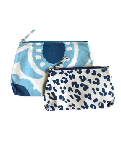Cosmetic bags, $56 for set of two.