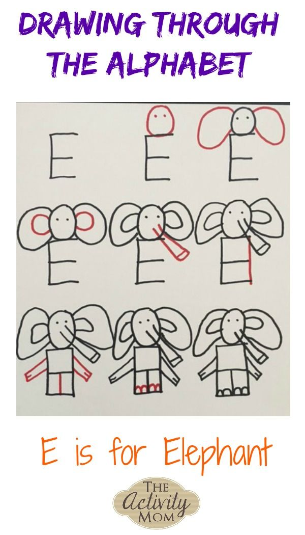 Drawing Through the Alphabet Letter E | Favorite Kid Pinners ...