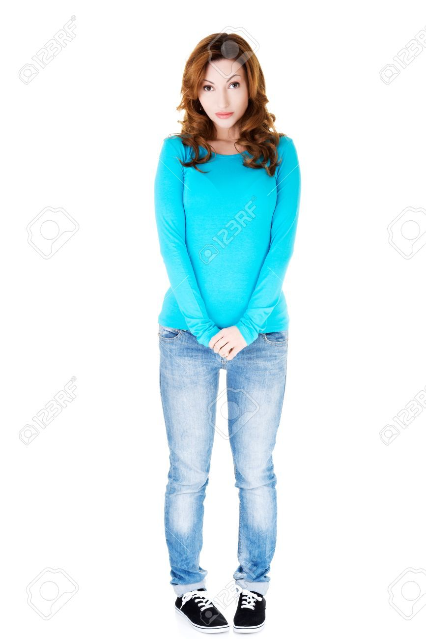 Image result for shy woman standing