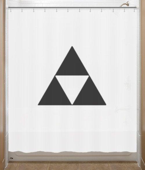 Legend Of Zelda Shower Curtain Triforce Bathroom Decor Bath Kids