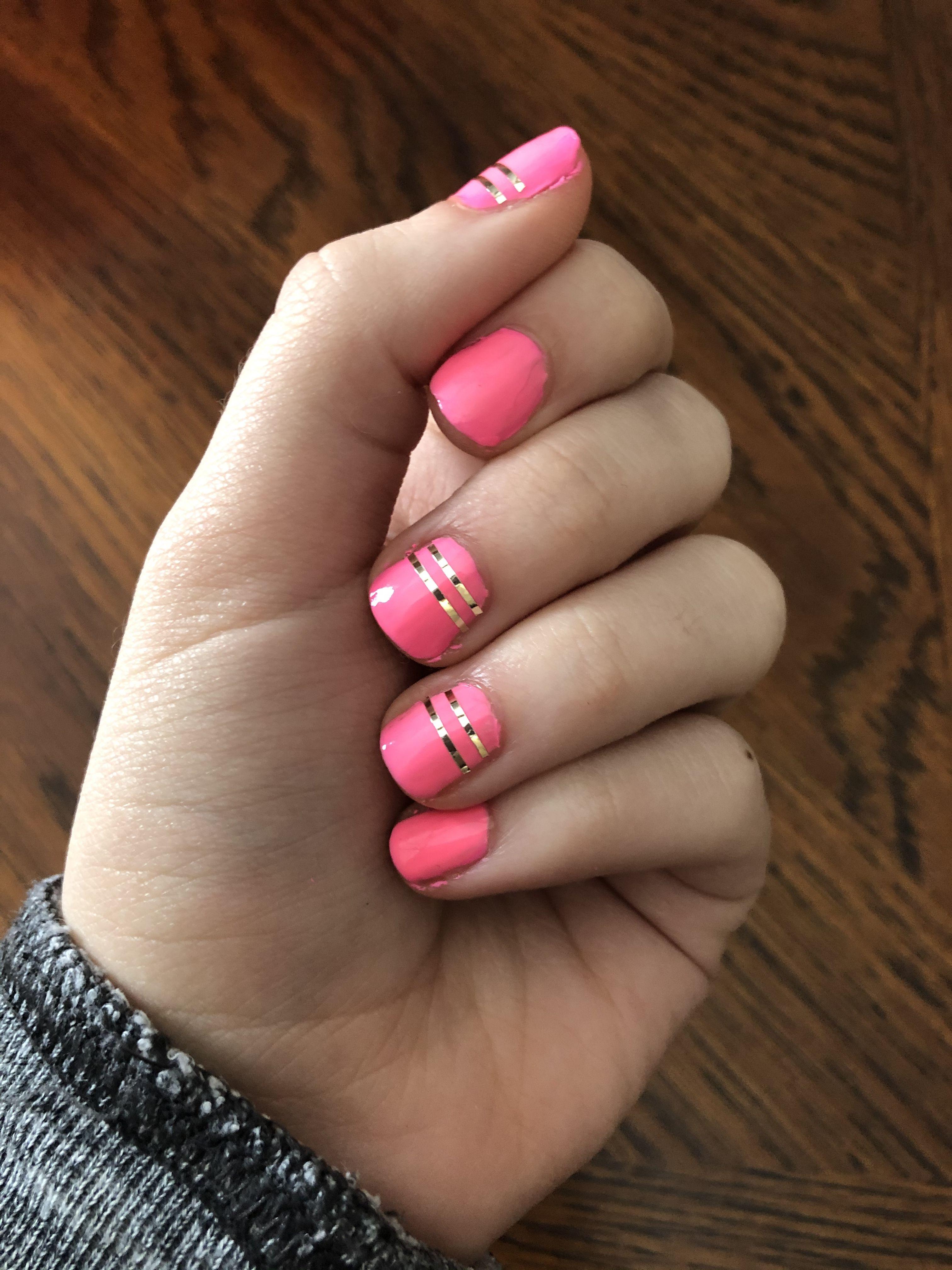 Nail art using striping tape in 2020 nail art nails