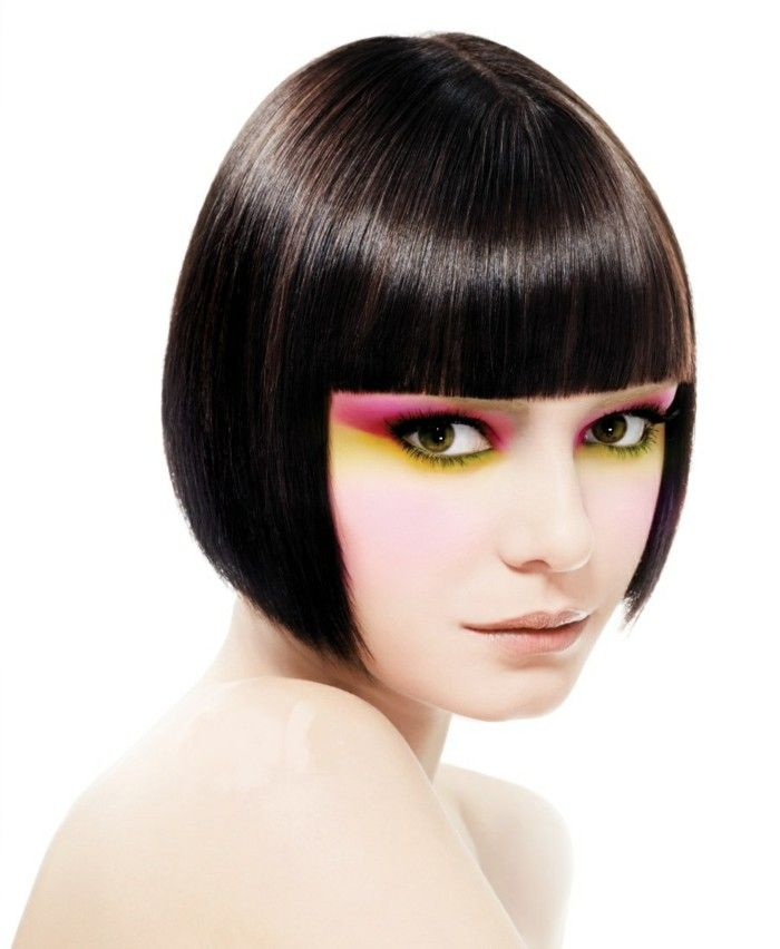 Page cut with bangs short Bob Pagen hairstyle retro style alien ...
