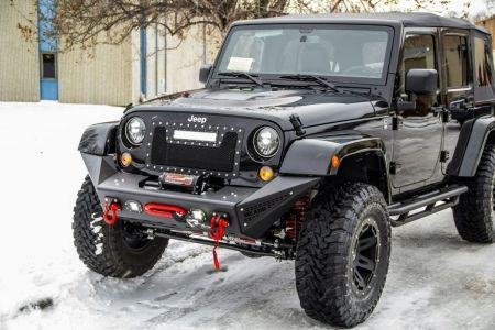 Aev Premium Front Bumper In Textured Black For 07 Up Jeep Wrangler Unlimited 1269 Would Be A Ni Jeep Wrangler Accessories Jeep Front Bumpers Jeep Wrangler