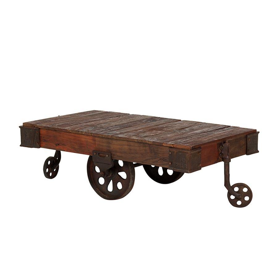 Tavolino Da Salotto Antico Legno.Tavolino Da Salotto Railway Legno Antico Cerato Tavoli E