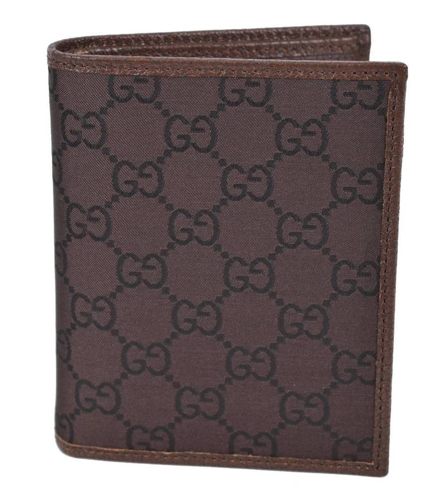 4f2d5594fbbe New GUCCI 292533 Men's Brown & Mahogany Canvas GG Guccissima Bifold Wallet # Gucci #Bifold