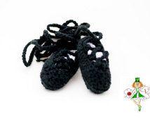 Baby Crochet Irish Dance Shoes, Ghillies, Baby Crochet Ghillie Shoes, Baby Ballet Shoes