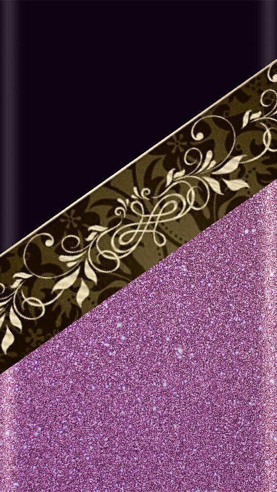 Black And Gold And Purple Xperia Wallpaper Purple