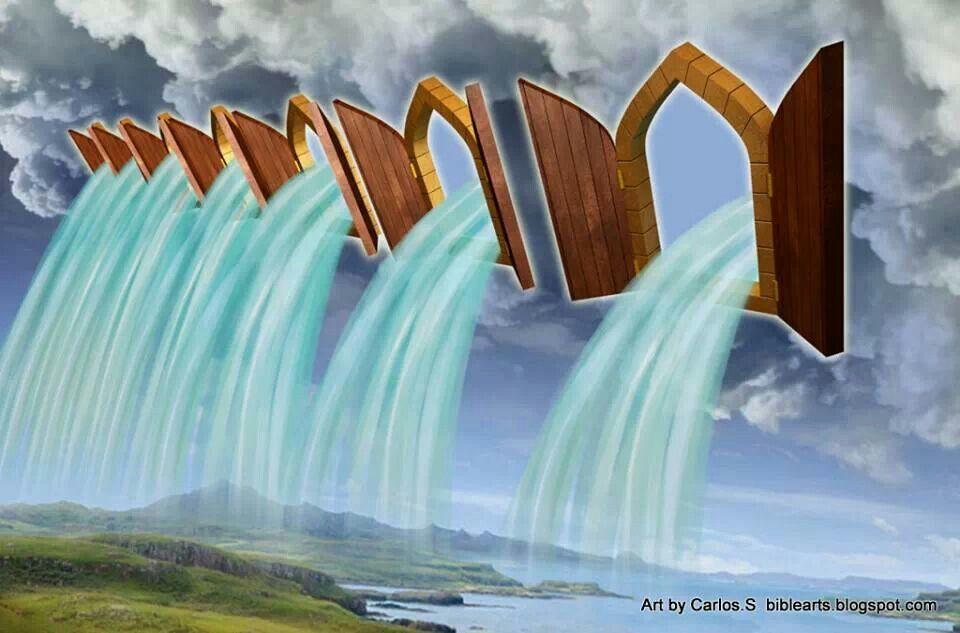 The Windows of Heaven Are Open   Prophetic painting, Prophetic art, Bible art