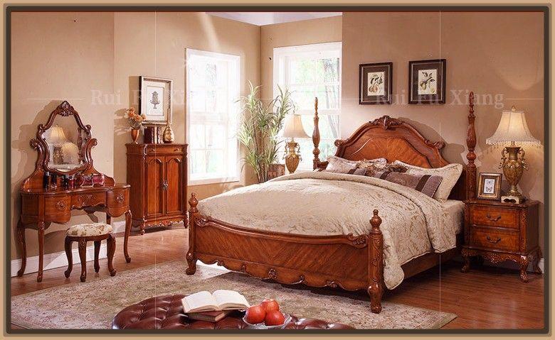 Camas clasicas talladas en madera dise o interiores - Habitaciones juveniles clasicas ...