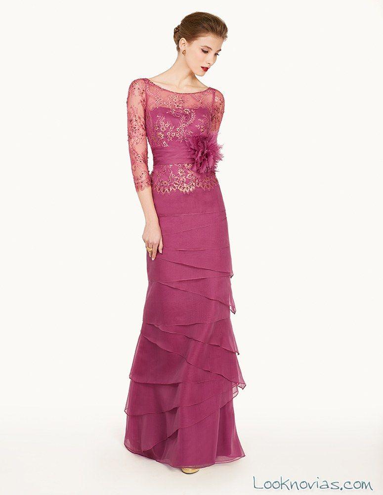 vestido para invitadas en malva | modas | Pinterest | Vestidos para ...