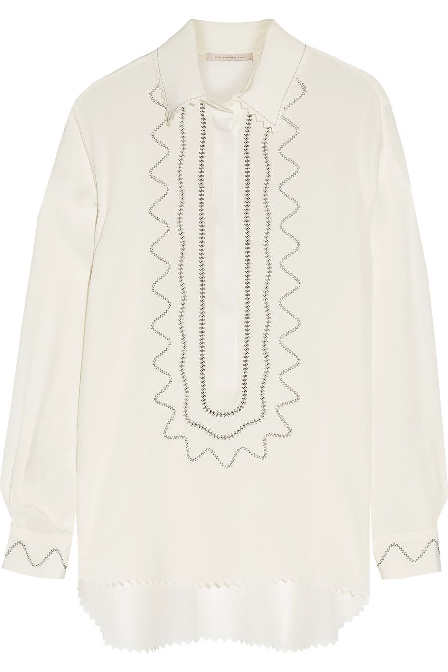 ca8f518928daf CHRISTOPHER KANE Embroidered Silk Crepe De Chine Blouse.  christopherkane   cloth  blouse