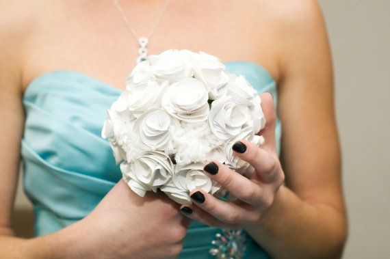 Paper Flower Wedding Bouquets by SweetsnTreatsbyAnnie on Etsy, $25.00
