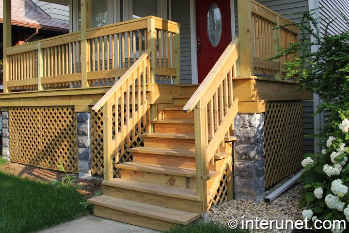 Front Porch Railings With Wood Front Porch Iron Railings