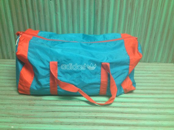 a62beec67cc Vintage ADIDAS duffle bag gym red blue large size by KagomeCharm,  29.99