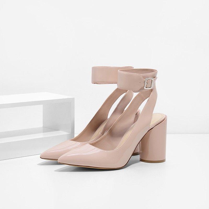 5afb6657 Cylinder Heel Pumps | CHARLES & KEITH | shoes | Pumps heels, Heels ...