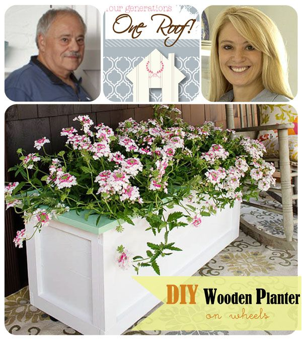 DIY Wooden Planter on Wheels Diy wood, Planters and Wheels