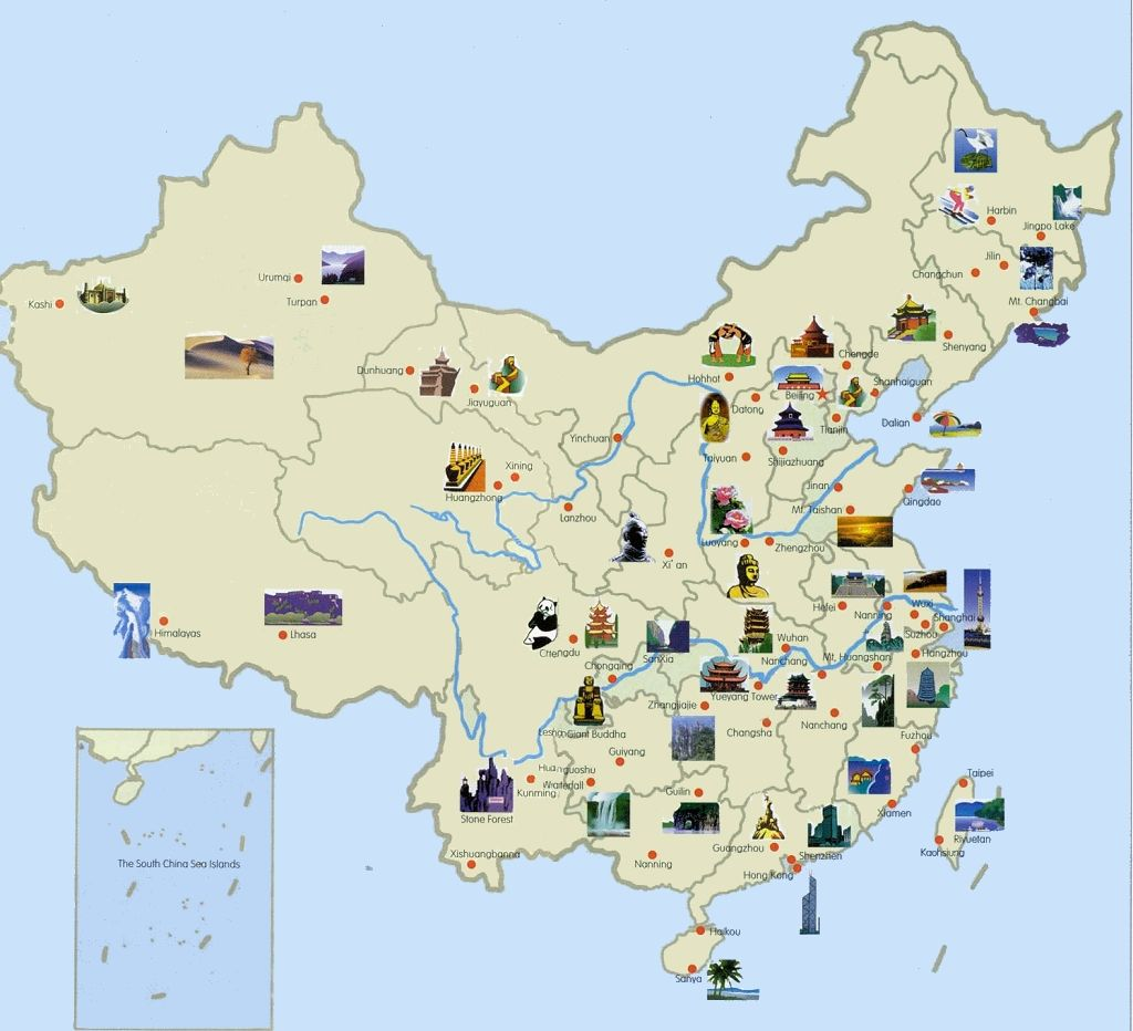 Detailed tourist map of china china maps pinterest tourist map china travel china tour china travel map china world heritages gumiabroncs Choice Image