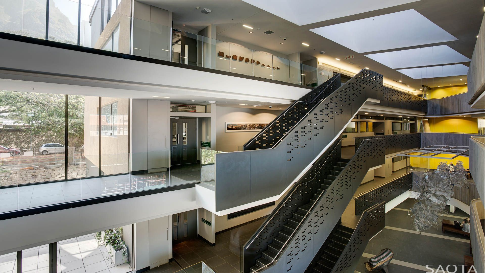 ZA NEB UCT: The New Engineering Building Creates A New Focus To The Faculty  Of Engineering And The Built Environment Within The Historic Upper Campus  Of UCT
