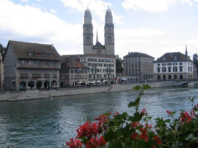 Limmat River, Zürich.