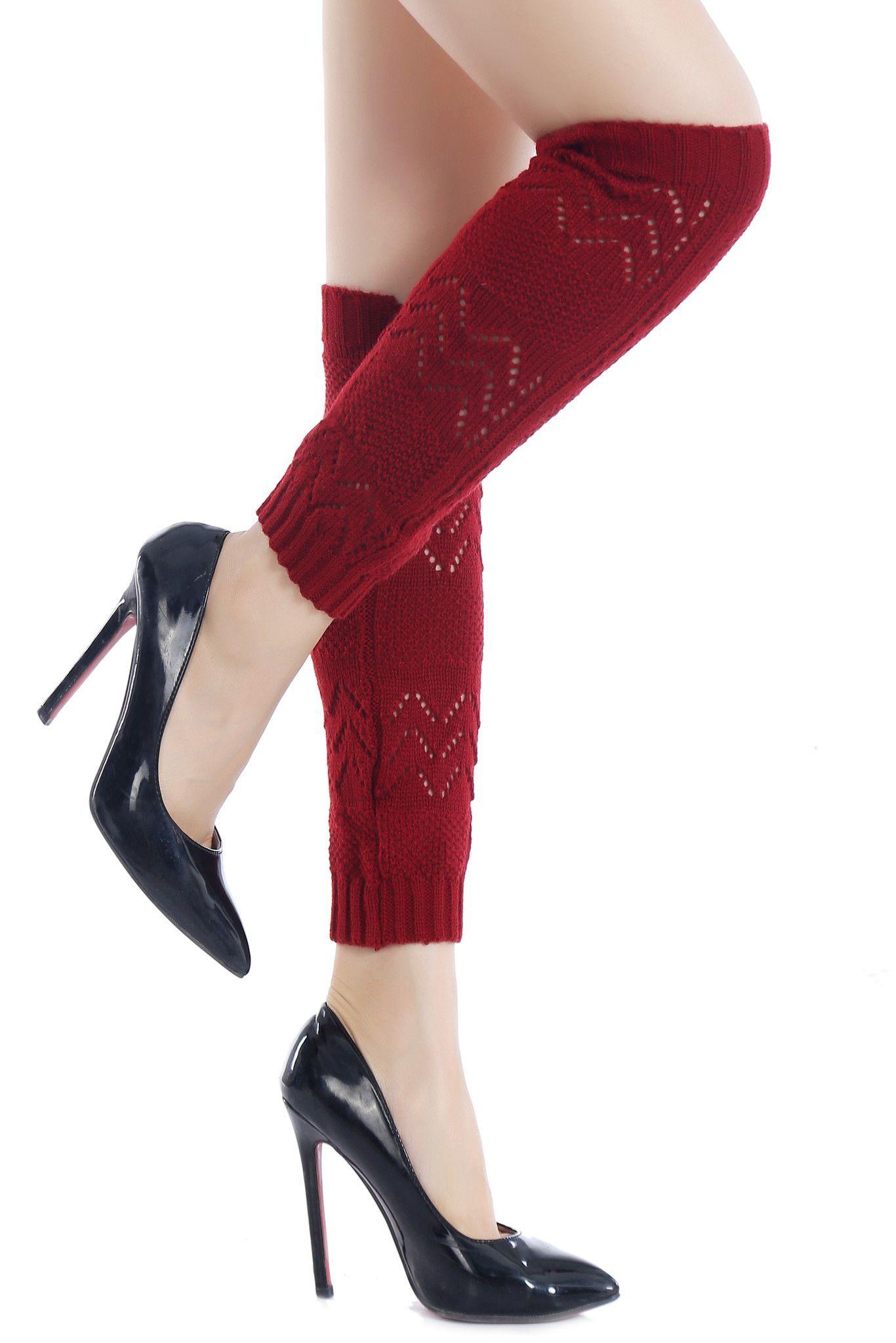 The Chevron Knit Leg Warmer | crochet | Pinterest | Medias, Zapatos ...