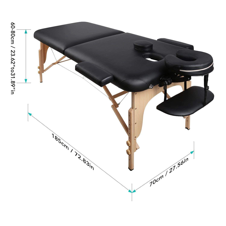 Naipo Table De Massage Pliante Professionnelle Cosmetique Portable Lit Table De Beaute Canape Pieds En Bois Hetre 2 Table De Beaute Table De Massage Bois Hetre