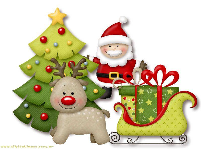 Santa Claus, Reno Y Trineo
