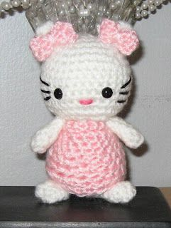 """Hello Kitty Pattern Doll measures 4-1/4"""" from tip of ear to leg."""