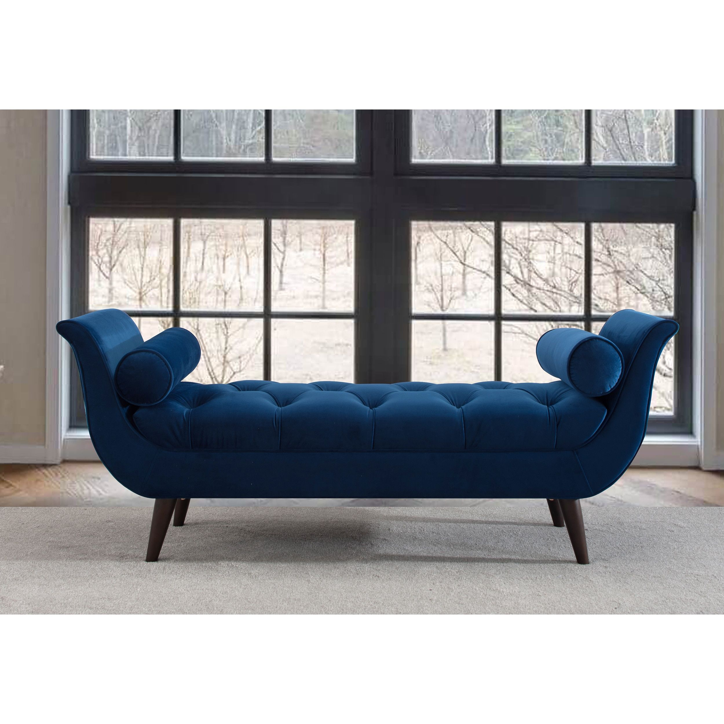 Bedbanken Outlet Jennifer Taylor Alma Tufted Entryway Bench Estate Blue