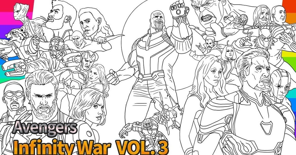 Avengers Infinity War Coloring Page Cinebrique