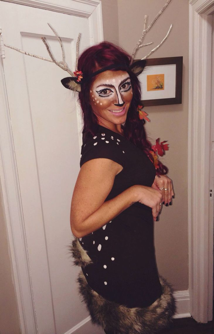 oh deer diy fall deer halloween costume with branch antlers c 39 est l 39 halloween pinterest. Black Bedroom Furniture Sets. Home Design Ideas