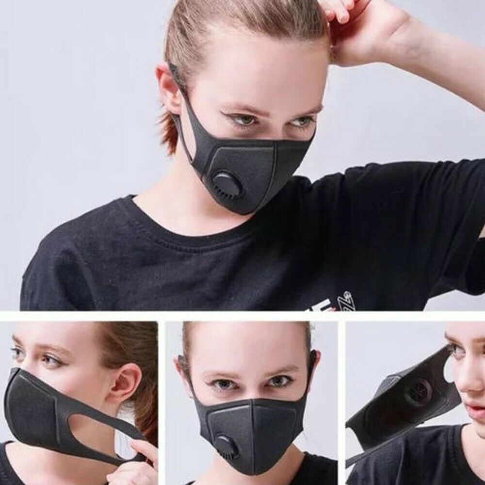 Air Purifying Face Mask Cover Anti Dust Multi Layer Mouth Muffle Filter Unisex
