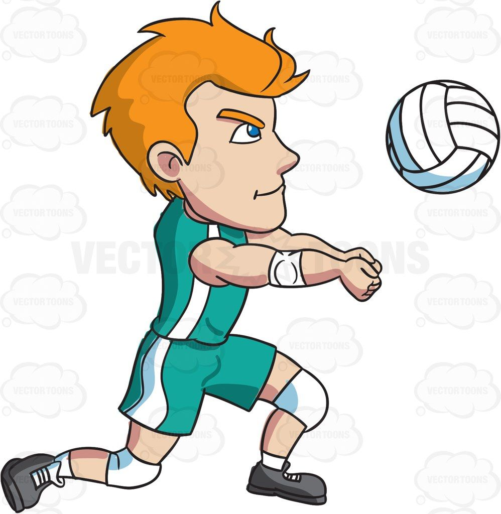 A Male Athlete Volleying A Ball Athletic Men Character Design References Volley